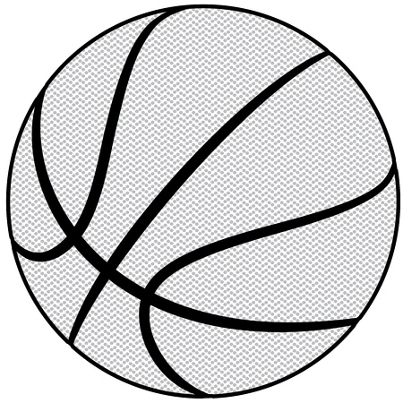 illustration of a basketball outline isolated in white background