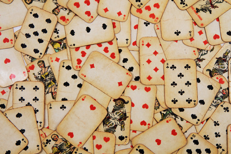 Photo pour old playing cards as nice casino background - image libre de droit