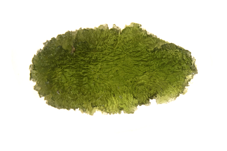 Photo for moldavite mineral isolated on the white background - Royalty Free Image