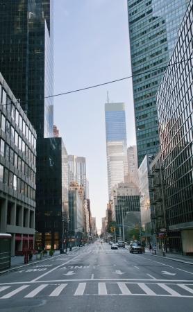 Foto de Morning street in New York city - Imagen libre de derechos