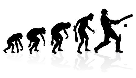 Illustration pour Evolution of a Cricket Player - image libre de droit