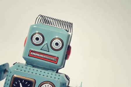 Photo for Vintage tin toy robot - Royalty Free Image