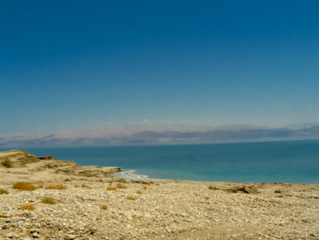 Nature and view of the Dead Sea in Israel