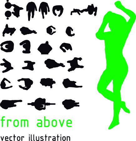 Ilustración de Vector silhouettes from the top - Imagen libre de derechos
