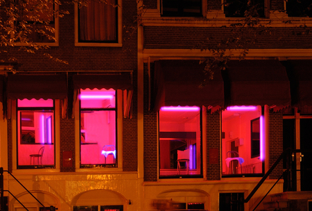 Foto de Amsterdam red light district - Imagen libre de derechos