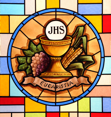 Photo for Eucharist, stained glass - Royalty Free Image
