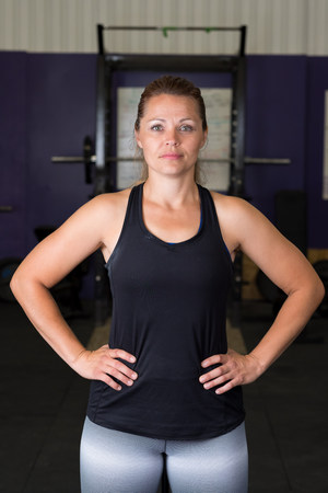 Photo for Female at Cross Training Fitness Gym - Royalty Free Image