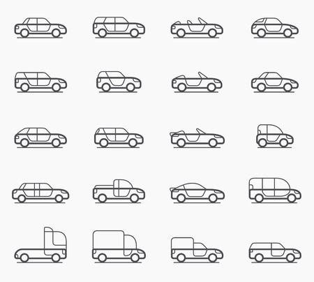 Photo for Car body types vector icon set - Royalty Free Image
