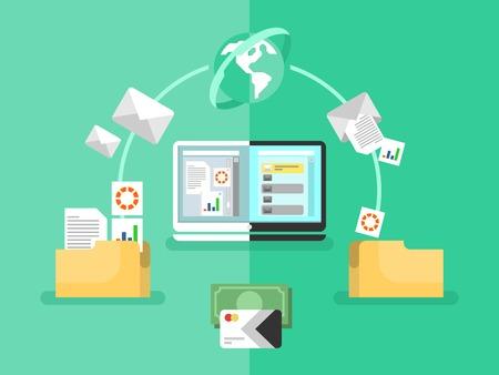Illustration pour Electronic document management - image libre de droit