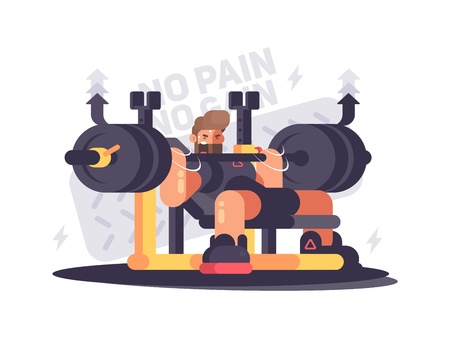 Illustration for Powerlifting athlete in competitions - Royalty Free Image