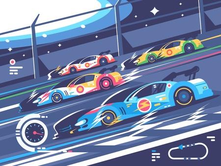 Ilustración de Sports car competitions - Imagen libre de derechos