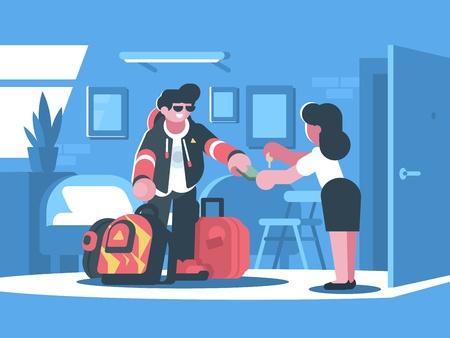 Illustration pour Rent apartment or room - image libre de droit