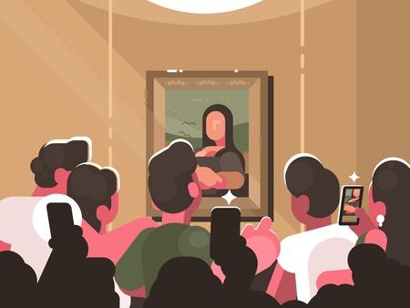 Illustration pour Exhibition in picture gallery - image libre de droit