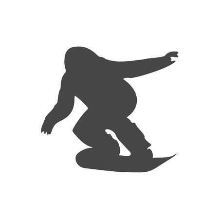 Snowboard Icon - vector Illustration