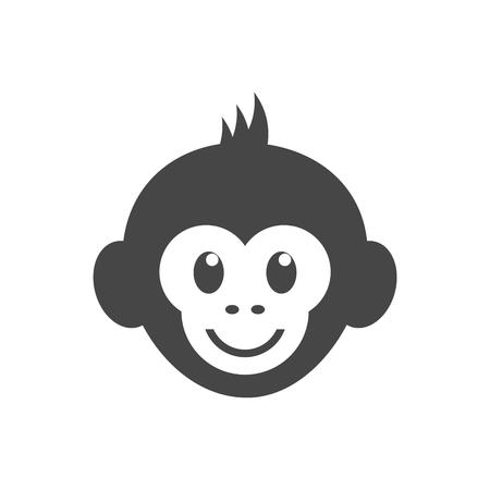Illustration pour Monkey face icon - vector Illustration - image libre de droit