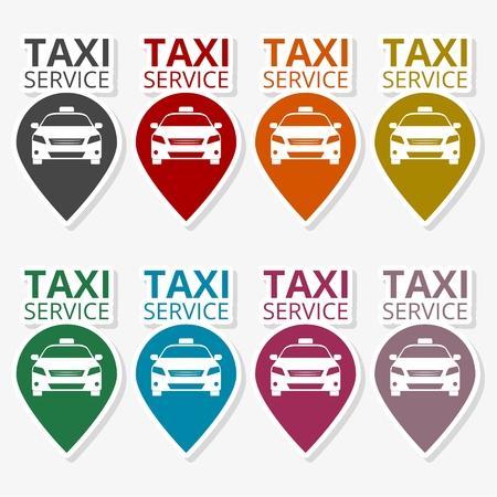Illustration pour Taxi logo. Public transport symbol - image libre de droit