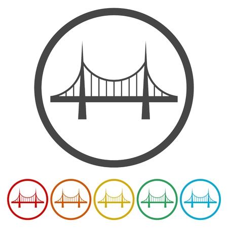 Illustration pour Bridge icons set - vector Illustration - image libre de droit