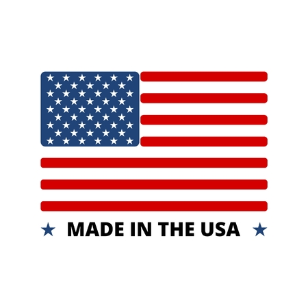 Illustration pour USA flag - Made in America - image libre de droit