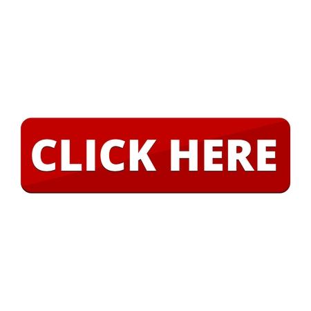 Illustration pour Click Here button, Click here icon, Click here sign - image libre de droit