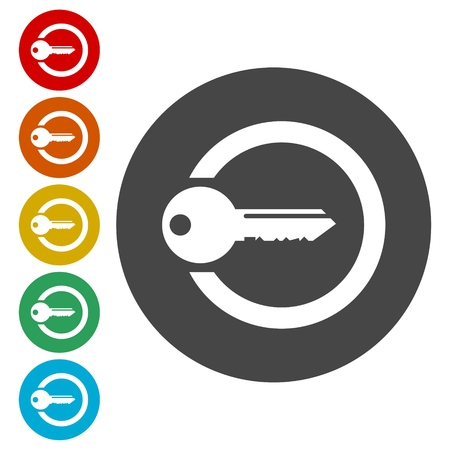 Illustration pour Login icon, Secure access button - image libre de droit