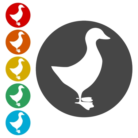 The silhouette of a goose or duck icon