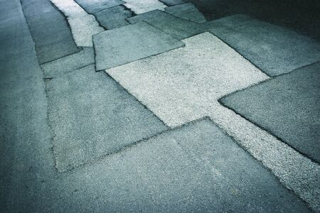 Photo for abstract background or texture asphalt road with patches - Royalty Free Image