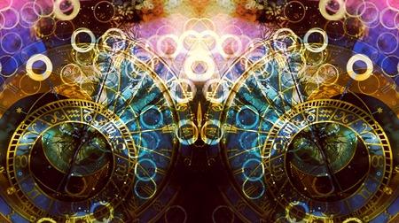 Photo pour astrological symbol Zodiac. Abstract color background. Computer collage. - image libre de droit