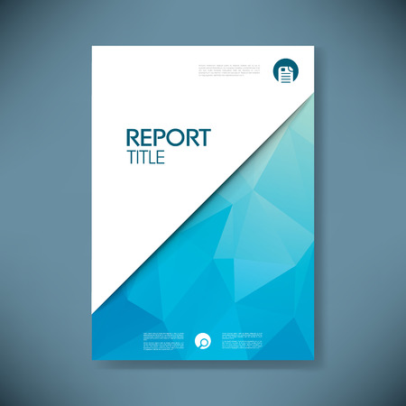 Illustration pour Business report cover with low poly design vector background. - image libre de droit