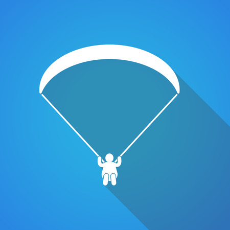 Illustration of a long shadow paraglider icon
