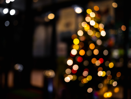 Photo for Abstract light bokeh Christmas tree for background. - Royalty Free Image