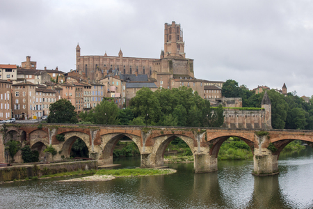 Photo for View of the Episcopal City of Albi and the River Tarn. Albi, France - Royalty Free Image