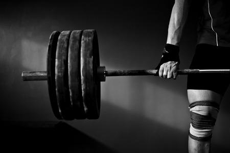 Foto de Man practicing weightlifting - Imagen libre de derechos