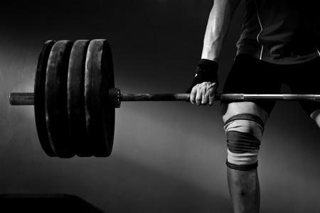 Photo for Man practicing weightlifting II - Royalty Free Image