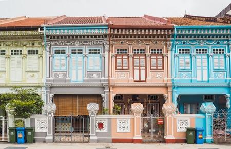 Photo pour Colorful peranakan heritage house, Joo chiat road, Singapore - image libre de droit