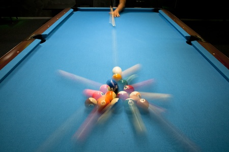 Power break in eight ball pool game