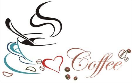 Ilustración de a cup of coffee - Imagen libre de derechos