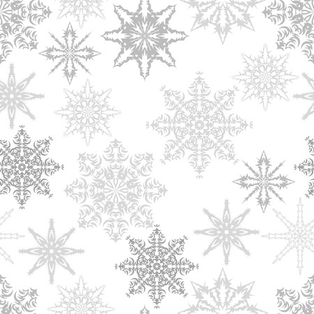Seamless pattern with snowflakes. Vector illustration