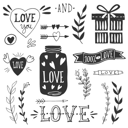 Illustration pour Valentine's day design elements. EPS 10. - image libre de droit