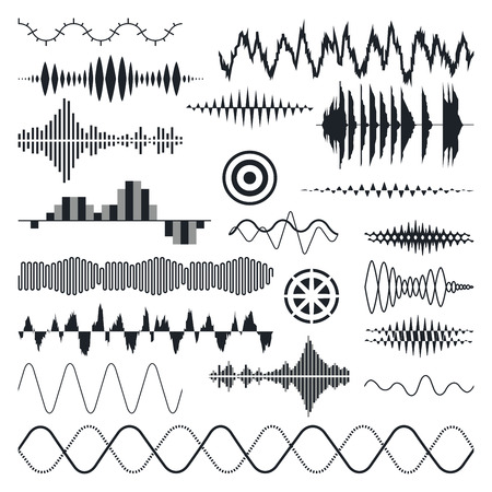Photo pour Vector Sound Waves Set. Audio Equalizer Technology, Pulse Musical. Vector Illustration - image libre de droit