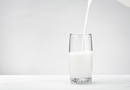 Photo for A white bottle of Milk over a white background - Royalty Free Image