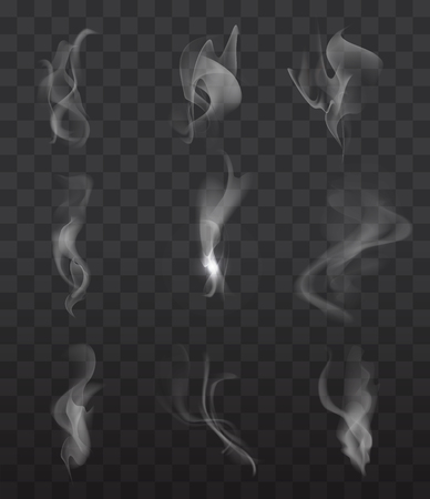 Ilustración de Smoke signs set on transparent background for web and mobile device - Imagen libre de derechos