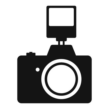 Ilustración de Camera with flash simple icon isolated on white background - Imagen libre de derechos