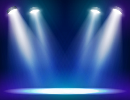 Illustration pour Stage lights background for web and mobile devices - image libre de droit