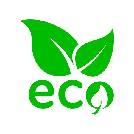 Ilustración de Leaves eco icon in simple style on a white background - Imagen libre de derechos