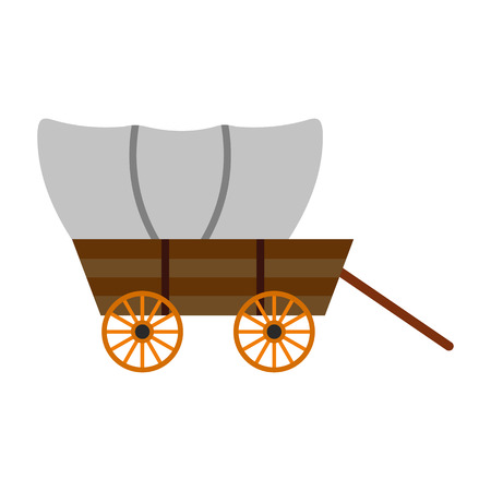 Illustration pour Western covered wagon icon isolated on white background - image libre de droit