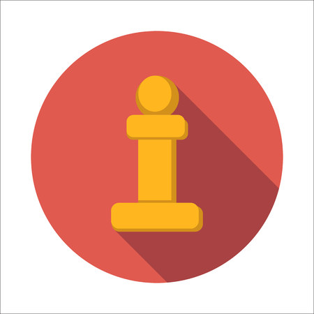 Foto de Chess pawn flat icon - Imagen libre de derechos