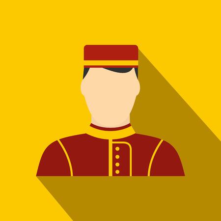 Photo pour Hotel bellman flat icon - image libre de droit