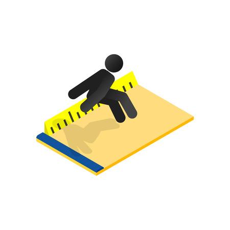 Photo pour Long jump isometric 3d icon - image libre de droit