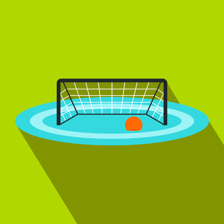 Photo pour Water polo gates flat icon - image libre de droit