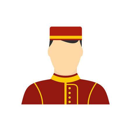 Photo pour Hotel bellman flat icon on isolated on white background - image libre de droit